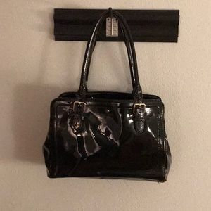 Kate Spade NWOT Black Leather Tote 3 Sections
